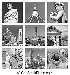 cultural heritage of art of  Florence - collage
