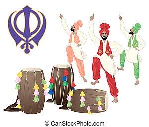 cultural punjab - a vector illustration in eps 10 format of...