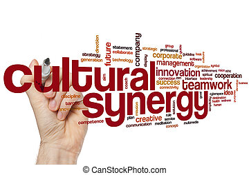 Cultural synergy word cloud