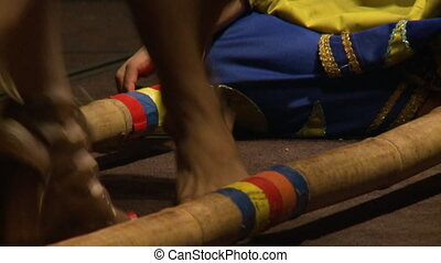 Cultural Tinkling Dance Performance, KL, Malaysia - Close-up...