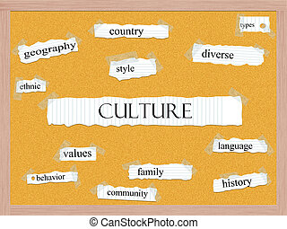 Culture Corkboard Word Concept