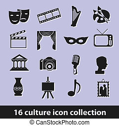 culture icons - 16 culture icon collection