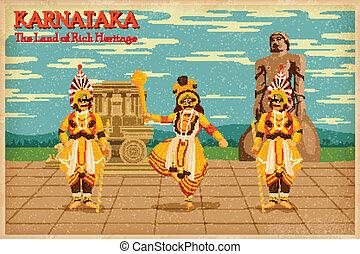 illustration depicting the culture of Karnataka, India