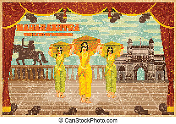 Culture of Maharashtra - illustration depicting the culture...