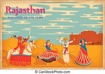 Culture of Rajasthan - illustration depicting the culture of...