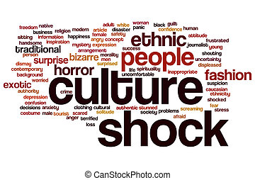 Culture shock word cloud - Culture shock concept word cloud...