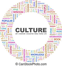 CULTURE. Word cloud concept illustration. Wordcloud collage.