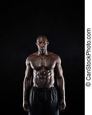 culturista, físico, muscular
