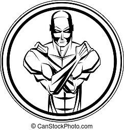culturista, idoneità, simbolo