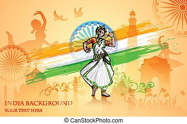 cultuur, van, india