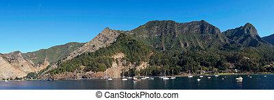 Juan Fernandez Islands - Cumberland Bay on Robinson Crusoe ...