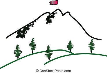 cumbre de montaña