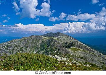 cume montanha, krigina, em, sibéria