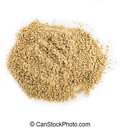 Cumin powder isolated on a white background