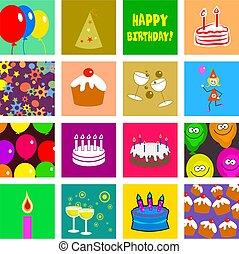 cumpleaños, azulejos