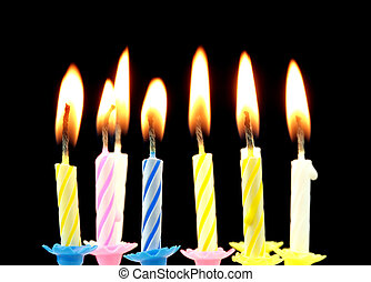 cumpleaños, candles.