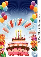 cumpleaños, cartel