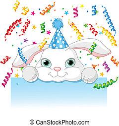 cumpleaños, conejito