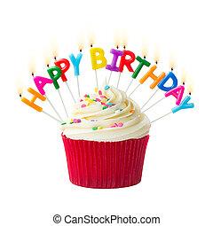 cumpleaños, cupcake