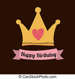 cumpleaños, diseño, feliz