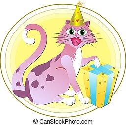 cumpleaños, gato