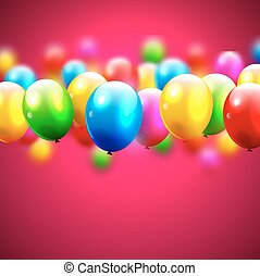 cumpleaños, globos