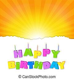 cumpleaños, ilustración, diseño