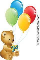 cumpleaños, oso