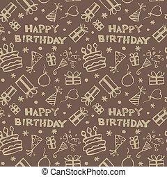 cumpleaños, patrón