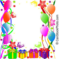 cumpleaños, plano de fondo, feliz