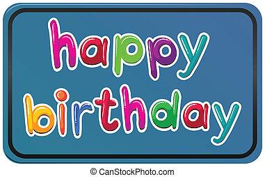 cumpleaños, plantilla, feliz