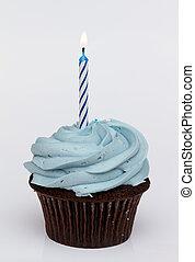 cumpleaños, primero, cupcake
