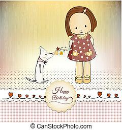 cumpleaños, tarjeta de felicitación