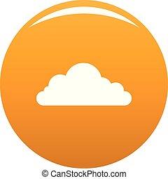 cumulonimbus, nube, icono, vector, naranja