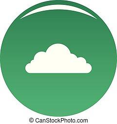 cumulonimbus, nube, icono, vector, verde