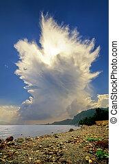 cumulonimbus, städ, moln, resning
