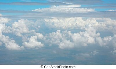 Cumulus and Stratus Clouds from Airborne Perspective - Video...