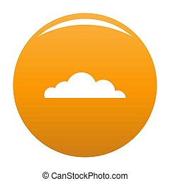 Cumulus cloud icon orange