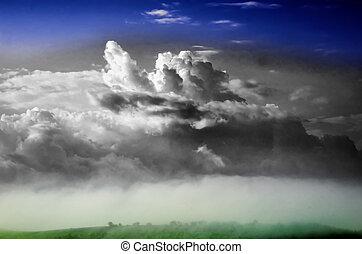 cumulus cloud in the sky