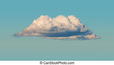 The big cumulus cloud in the blue sky