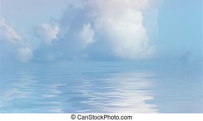 Clouds Over Quiet Waters - Cumulus Clouds Over Quiet Waters