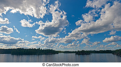 clouds over wood lake
