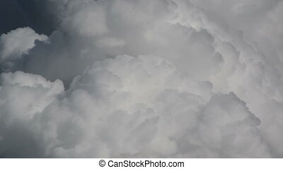 cumulus monsoon clouds explode time
