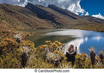 cundinamarca, explorar, mujer, paramo, naturaleza, joven, departamento, hermoso, colombia