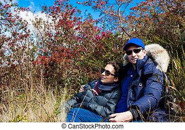 cundinamarca, explorar, paramo, naturaleza, joven, departamento, hermoso, colombia, pareja