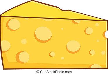 cuneo, cartone animato, giallo, formaggio