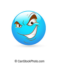 Cunning Expression Smiley Icon - Creative Abstract...
