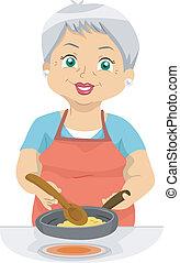 cuoco, anziano