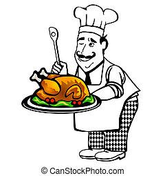 cuoco, arrosto