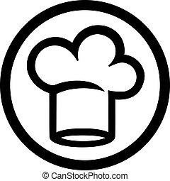 cuoco, cappello chef